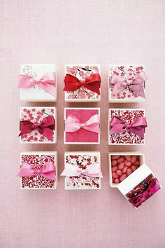 Pretty pink party favours