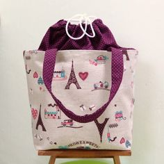 Eiffel Tower  Lunch Tote by givegift on Etsy, $26.00