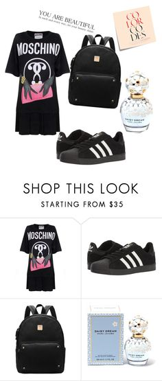 """""""#$&*^()!@-'"""":;?,+×÷=<>{}[] €£¥₩%~`¤♡☆_\ 《》¡¿"""" by dragalina-cujba ❤ liked on Polyvore featuring Post-It, Moschino, adidas and Marc Jacobs"""