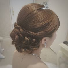 Updos, Bridal Hair, Wedding Hairstyles, Engagement, Long Hair Styles, Earrings, Vintage, Instagram, Fashion