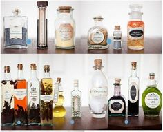 Place potion jars like those found in Snape's cabinets as a centerpiece. | 29 Essentials For Throwing The Perfect Harry Potter Party