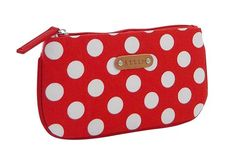 Josie Cosmetic Purse - Red and White Spots  by Attic Accessories  $14.00