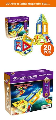 20 Pieces Mini Magnetic Building Blocks Toys Set, Educational Magnet Bricks Tiles Construction Stacking Kit For Kids (20 Pieces). This is an interesting magnetic construction Product description: Products are consist of ABS acrylic plastic material, natural mineral composition of magnet, strong magnetic, not easy to fall off after the combination, as a center of links can be made with magnet sphere, cone, a square, with basic graph into public modelling, foundation construction idea guide...