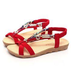 d0a602a67effe4 Mokingtop Women s Shoes Summer Sandals Shoes Peep-toe Low Shoes Roman  Sandals Ladies Flip Flops
