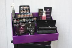 Are you a Younique Presenter? These purple Stack Displays will really make your Younique products stand out in style! Give your display a professional look with Stack Displays! #younique #youniquedisplay www.StackDisplays.com Makeup Display, All Natural Makeup, Deep Shelves, Vendor Displays, Vendor Booth, Jamberry Nails, Product Display, Gorgeous Eyes, Amazing Eyes