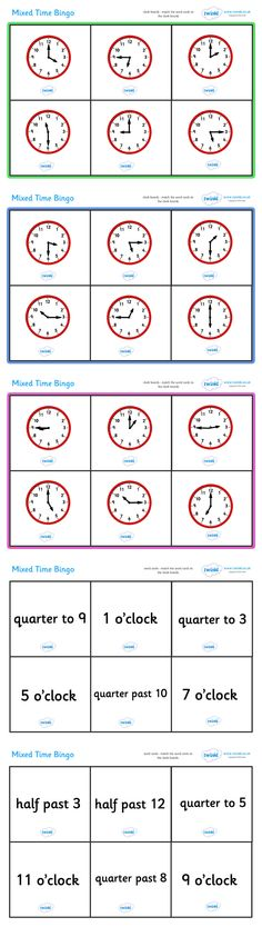 Mixed Time Bingo  - Pop over to our site at www.twinkl.co.uk and check out our lovely Numeracy primary teaching resources! numeracy, maths, time , bingo #Numeracy #Numeracy_Resources