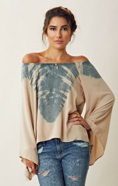 Blu Moon Billowy Sleeve Blouse