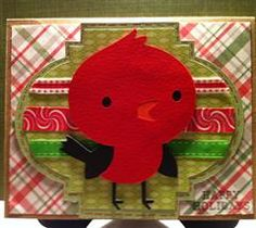 I am starting to LOVE the new Create a Critter 2 preview images!! They are just so darn cute!!! I made this Christmas card today with the little red bird. I also used an image from my Expression 2 for the background that it looks like a Christmas ornament when you flip the image. For sure I will be using the Thanksgiving squirrel tomorrow. :)