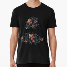 """""""embroidery design baroque style"""" by Chris olivier Shirt Embroidery, Embroidery Designs, Baroque Fashion, Wash Bags, Tshirt Colors, Looks Great, Tees, Shirts, Cotton"""