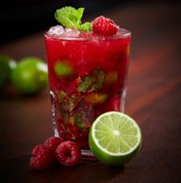 Raspberry Mojitos from Coxtails