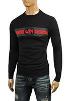GUCCI Men's Crew Neck Knit Cotton Sweater #80