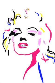 Watercolor Drawing, Sketch Drawing, Cool Art Drawings, Marylin Monroe, Fitness Workouts, Types Of Art, Adobe Illustrator, Graffiti, Mosaic