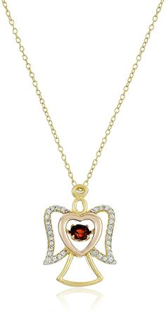 18k Gold and Rhodium Plated Sterling Silver 'Dancing' Garnet