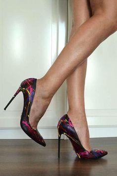 Janiko by Resolution Color Instinct XBR 009 Women high heels black /  multicolored Women