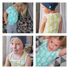 Our talented friend @willebusdesign made these cool robot vest and t-shirt for her kids. Fabric from liandlo.com