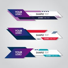 Lower third white and colorful design template modern contemporary. set of banners bar screen Layout Template, Banner Template, Templates, Sports Graphic Design, Graphic Design Posters, Poster Design Software, Flat Color Palette, Gui Interface, Banner Design Inspiration
