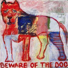 Beware of the dog by nancypickard on Etsy