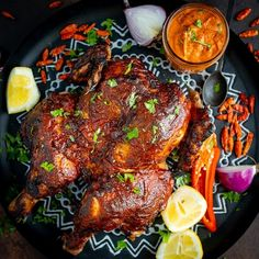 This Peri Peri Chicken is juicy, spicy and and loaded with flavour! I'll show you how to make Peri Peri sauce that you'll want to smother on everything, AND how to spatchcock a chicken so it cooks in super quick time! Peri Peri Sauce, Peri Peri Chicken, Spicy Chicken Recipes, Mexican Food Recipes, Sauce Recipes, Cooking Recipes, Bakery Recipes, Rum Recipes, Oven Recipes