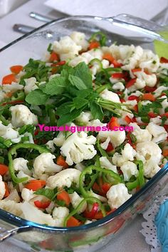 - Delicious Meets Healthy: Quick and Healthy Wholesome Recipes Appetizer Salads, Appetizer Recipes, Salad Recipes, Cauliflower Salad, Cauliflower Recipes, Roasted Cauliflower, Turkish Salad, Healthy Salads, Healthy Recipes