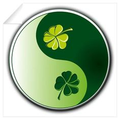 Yin Yang of green shamrocks Four Leaf Clover Tattoo, Clover Tattoos, Feng Shui, Tatuaje Trash Polka, Yin Yang Art, Yin Yang Tattoos, Irish Tattoos, Irish Roots, Symbol Tattoos