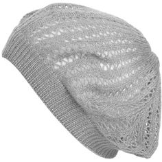 Lurex Open Weave Beret ($8.50) ❤ liked on Polyvore featuring accessories, hats, beanies, gorros, headwear, beanie hat, cocktail hat, beanie beret, beanie beret hat and beret beanie