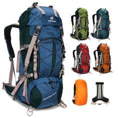 7aac57f896b5 Waterproof Internal Frame 50L sport Travel Hiking Camping Backpack bag men  women Hiking Equipment