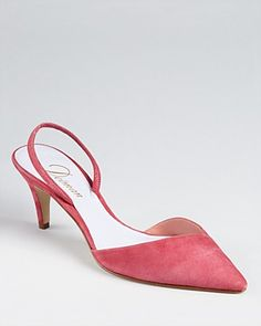 Kitten Heels are in this Spring Get inspired to shop your Goodwill SCWI stores! Kitten Heel Shoes, Low Heel Shoes, Low Heels, Pumps Heels, High Heel Pumps, Pink Kitten Heels, Suede Pumps, Flats, Cute Shoes