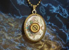 Custom vintage map necklace you select location anywhere in the custom vintage map necklace you select location anywhere in the world one necklace resin pendant map jewelry wanderlust world necklace pinterest gumiabroncs Choice Image