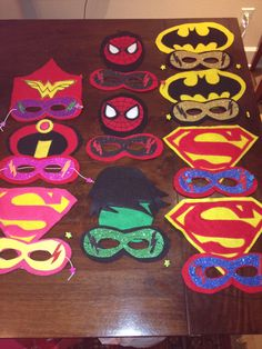 RESERVED for SIOBHON Super Hero Masks Bundle of von KlassiKreations