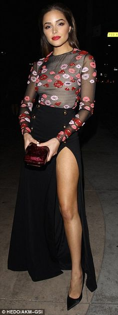 Take your style to the max with a skirt like Olivia's #DailyMail  Click 'Visit' to buy now