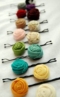 Rosette hair pins. How do you use accessories to change up your look? What's your favorite  hair accessory?