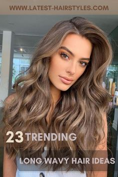 Want to be extra pretty with long hair? You'll be inspired by these 23 long wavy hair ideas that are trending right now. Just click the photo to see more gorgeous examples. Photo credit: Instagram @natalieannehair #longwavyhair #wavyhairstyles Faded Hair Color, Ash Brown Hair Color, Hot Hair Colors, Light Brown Hair, Hair Color For Black Hair, Lightest Brown Hair Color, Summer Hair Color For Brunettes, Hair Colour, Brown Hair Pale Skin Blue Eyes