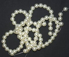 Swarovski Off White Glass Pearl   Supplies Bead by marykerran, $10.00