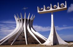The Catedral Metropolitana in Brasilia, by Oscar Niemeyer