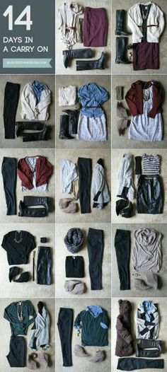 Outfits to travel light