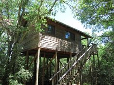 3) Frio River Treetop, Rio Frio Lodging (near Leakey)  friolodging.com     friolodging.com Located high above the Frio River, this 1966 square foot treetop haven comfortably sleeps up to 14 people!  friolodging.com The spacious interior of the tree house.  friolodging.com Another stunning view of the treehouse with the crystal clear waters of the Frio below.