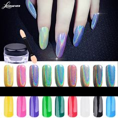 Nail art mirror powder French imports of laser lights flash powder plating of silver Cool laser chameleon mirror flour M02718