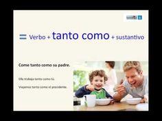 Un vídeo explicativo sobre los comparativos de superioridad, de igualdad y de inferioridad Proviene de http://www.blogdeespanol.com/2013/07/comparison-in-spanish/