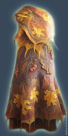 """юбка валяная из войлока """"Листопад"""" - валяная юбка,осень,листопад,теплая юбка"""