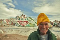 Leonard Knight - Creator of Salvation Mountain in CA. Died 11/01/2014, RIP. The man made mountain he built took over 27 years of work. He had no real belongings and lived in the back of a truck most of the time. His singular goal in life was to spread one message with his art: GOD IS LOVE. You made the world a better place Leonard Knight.