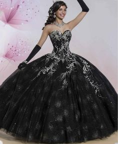 ANTI Luxury Black Quinceanera Dresses 2016 Shimmering Skirt Softly Tulle Ball Gowns For 15 Years Sweet 16 Princess Lace Up