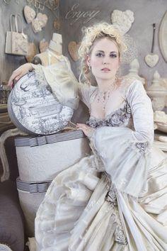 Vintage Wedding Gown Designs by Immagika Bridal Gowns, Wedding Gowns, Frou Frou, Belle Epoque, Victorian Fashion, Dress Collection, Swarovski Crystals, Dream Wedding, Bridesmaid