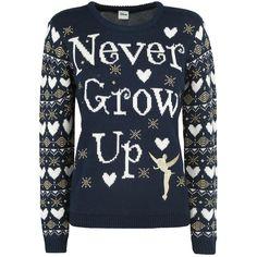 Tinkerbell - Never Grow Up Christmas Sweater - Weihnachtspullover von Peter Pan