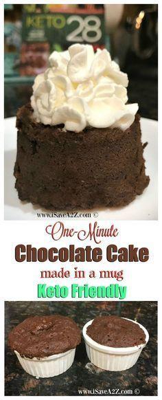 One Minute Keto Chocolate Mug Cake (a keto friendly dessert recipe)