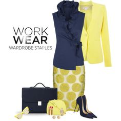 """Work Wear Staple: Patterned Pencil Skirt"" by lipservicebymel on Polyvore"