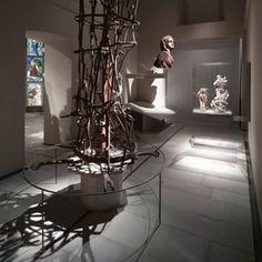 Sistemi espositivi Museofab per allestimenti museali. Distanziatori di sicurezza, Museo del Duomo di Milano