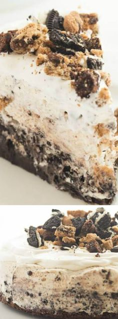 This Chocolate Chip Cookie Oreo Brownie Ice Cream Cake from The Recipe Rebel is seriously the  ULTIMATE Ice Cream Cake!