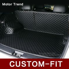 Custom fit car trunk mat for Camry RAV4 Accord Corolla Altima CRV Fusion Escape Focus Explorer 3D car styling cargo liner