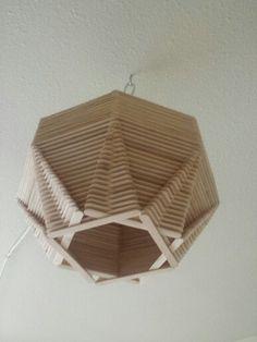 Popsicle stick globe light