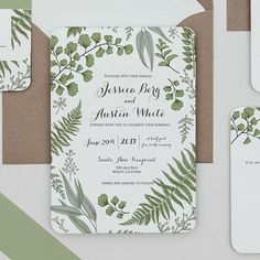 Loving the combination of a #forestwedding  with the #PantoneColorOfTheYear Greenery. ~ ~ #coloroftheyear2017 #naturalwedding #greenwedding #springwedding #springbride #eucalyptus #weddinginvitation #weddinginvitations #customweddinginvitation #customwedd